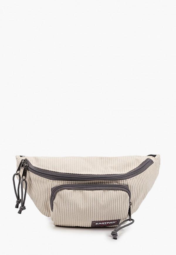 женская сумка eastpak, бежевая