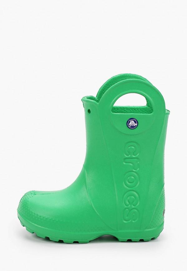 резиновые сапоги crocs малыши, зеленые