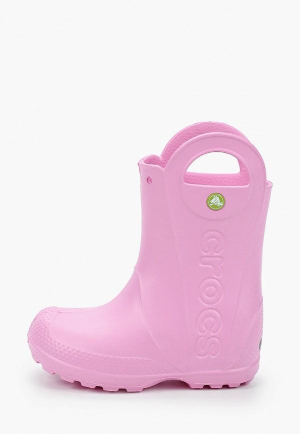 сапоги crocs для девочки, розовые