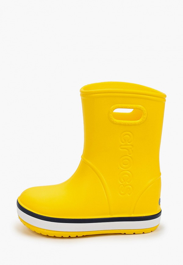 резиновые сапоги crocs малыши, желтые