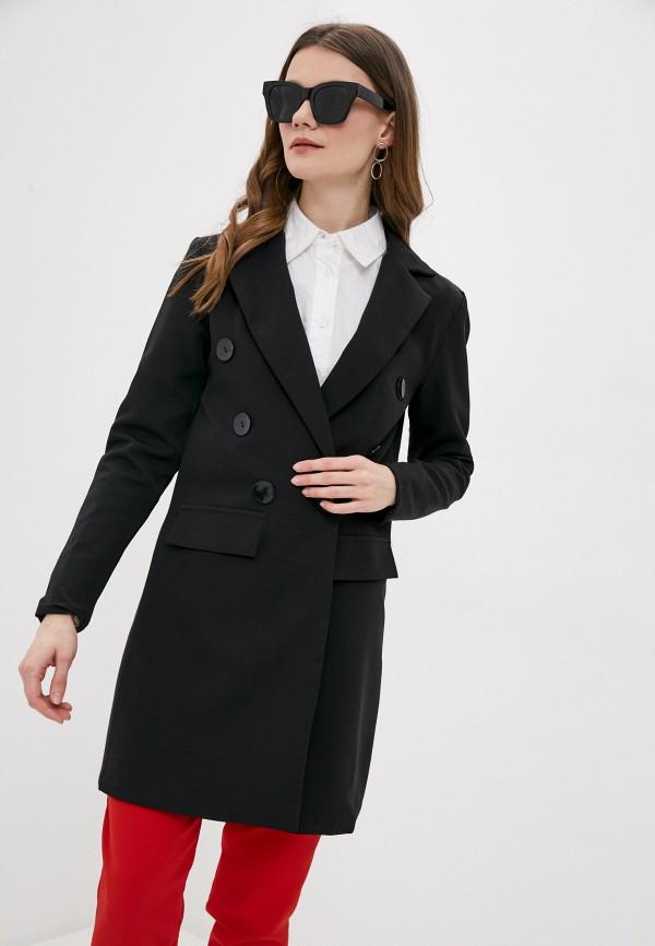 женский пиджак pink orange, черный