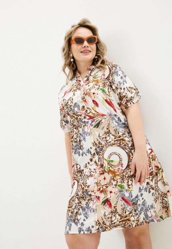 женское повседневные платье allegri, разноцветное