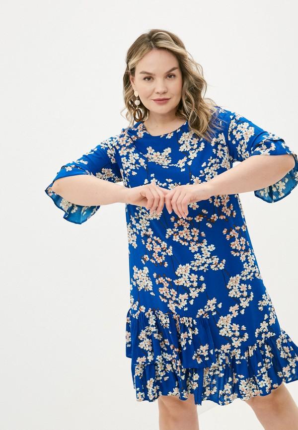 женское повседневные платье allegri, синее