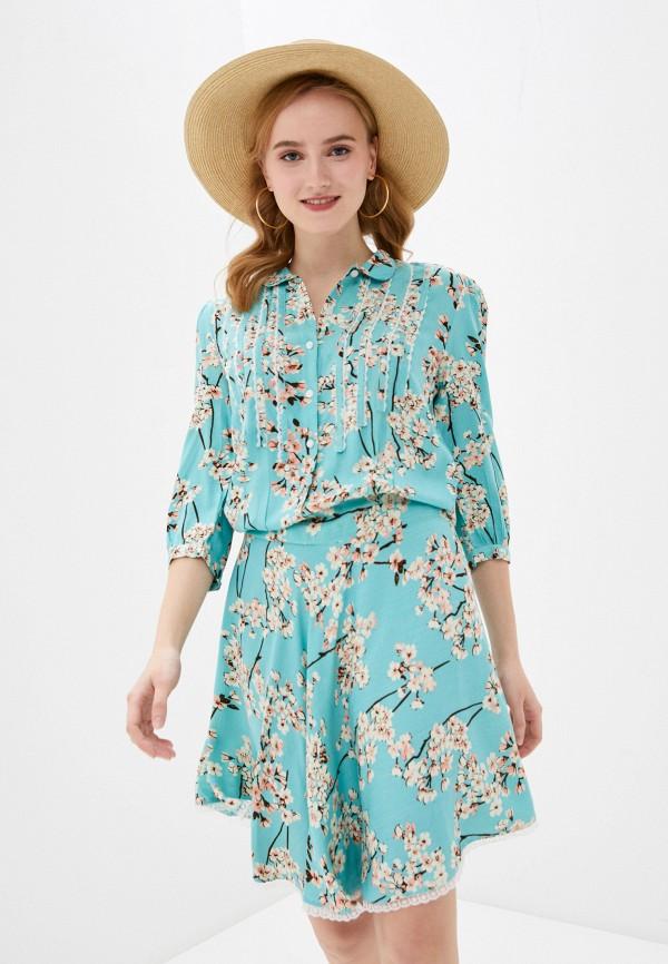 женское платье allegri, бирюзовое
