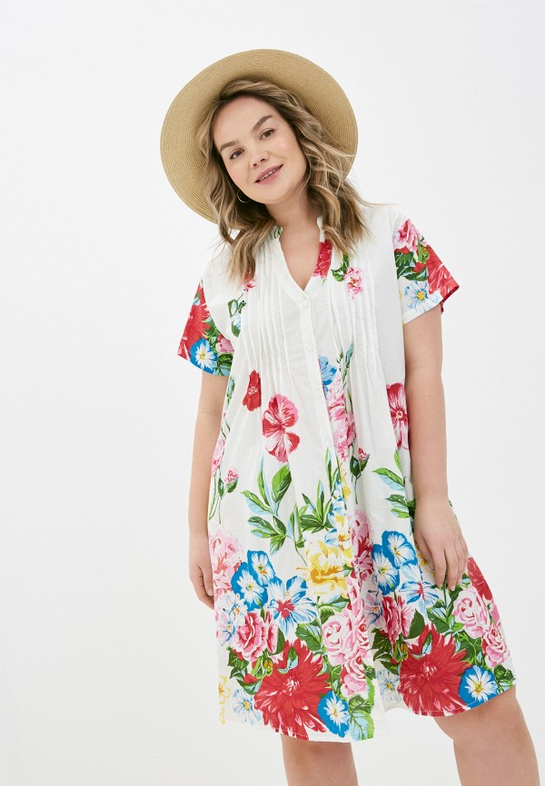 женское повседневные платье allegri, белое