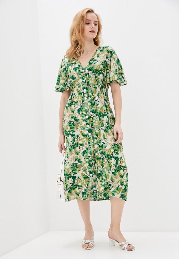 женское повседневные платье allegri, зеленое