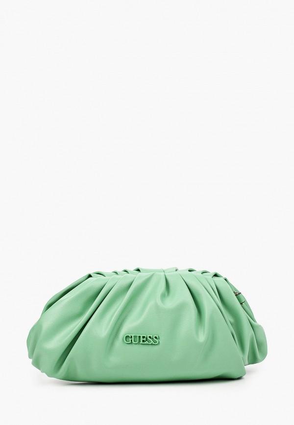 женская сумка через плечо guess, зеленая