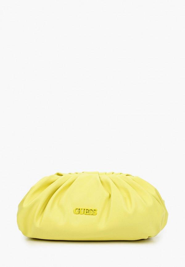 женская сумка через плечо guess, желтая