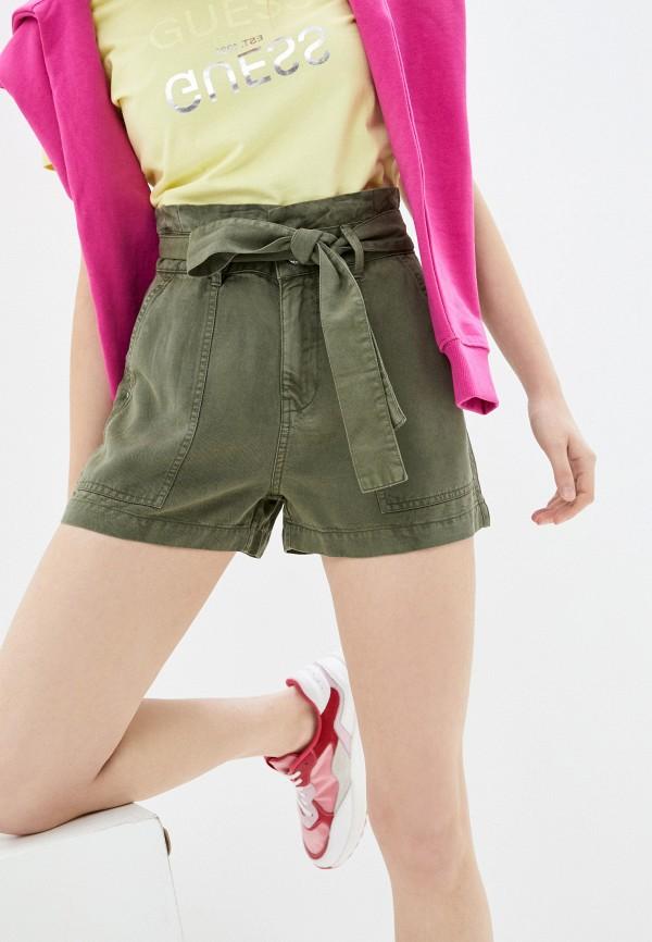 женские повседневные шорты guess, хаки