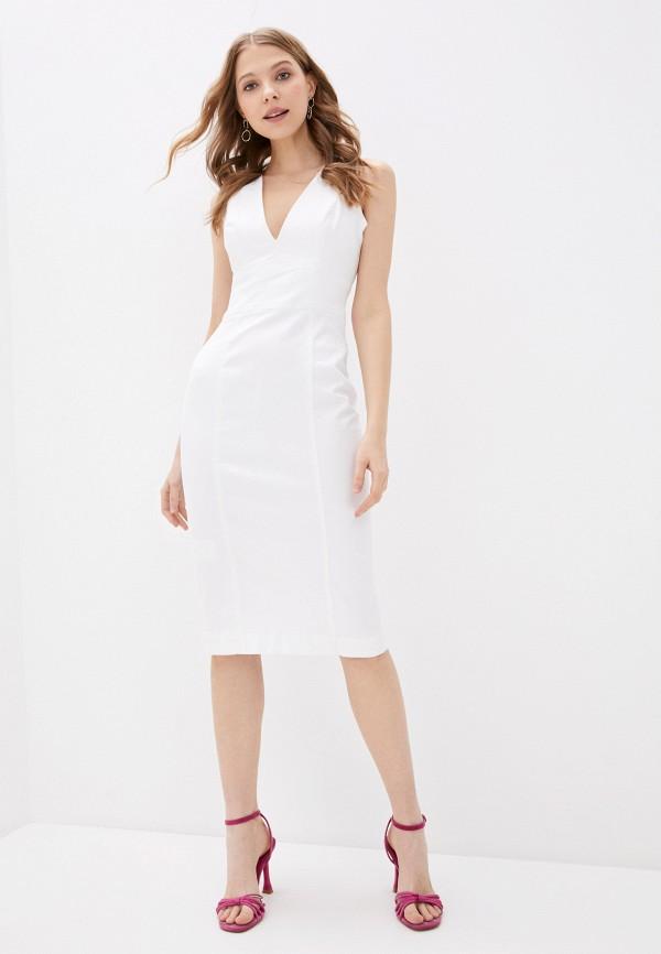 женское платье-футляр guess, белое