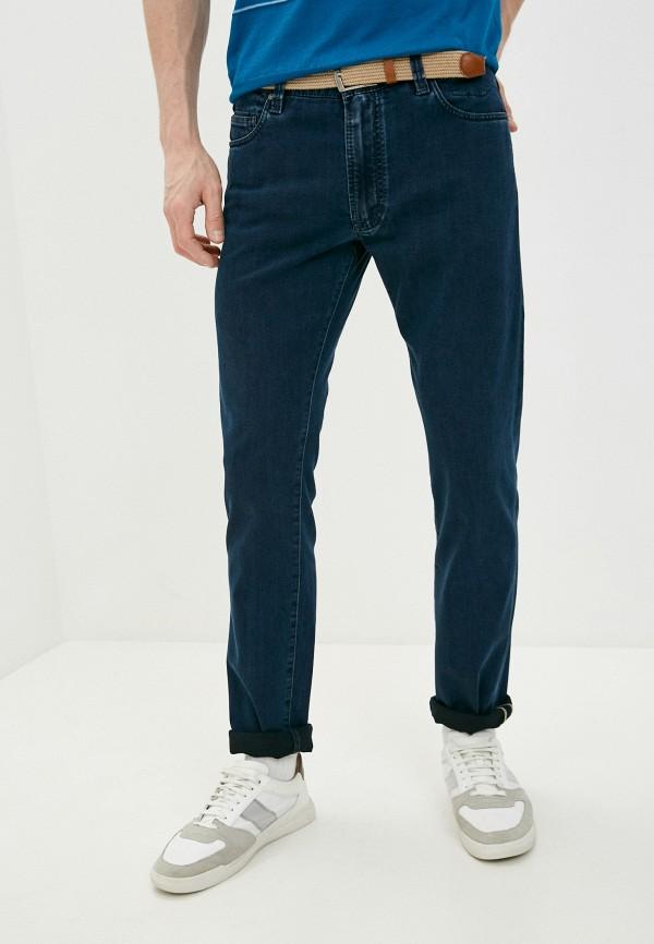 мужские зауженные джинсы cortigiani, синие