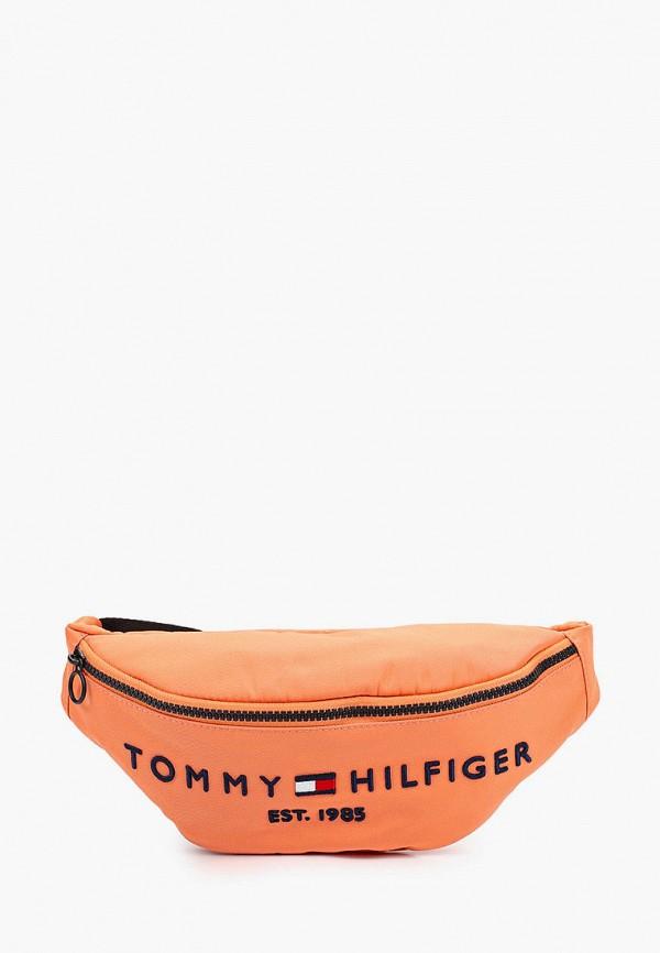 женская поясные сумка tommy hilfiger, оранжевая