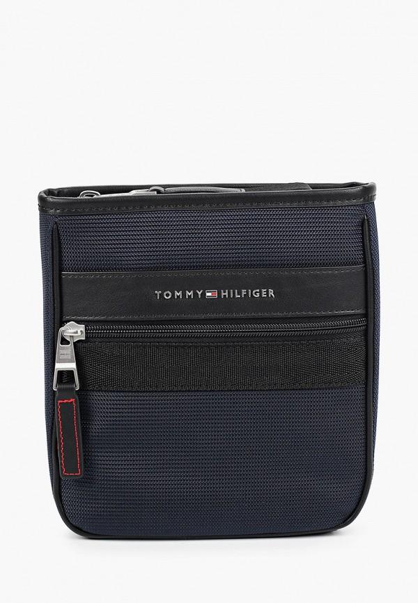 мужская сумка через плечо tommy hilfiger, синяя