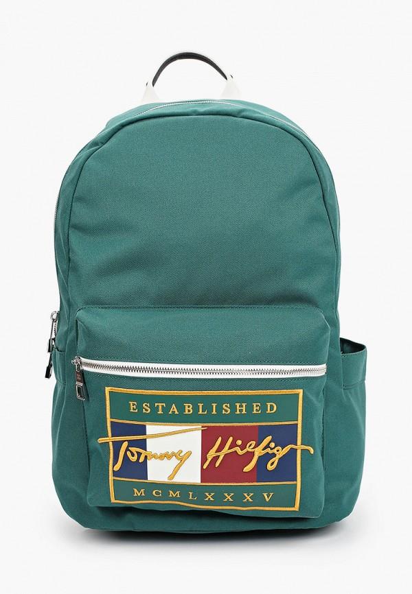 мужской рюкзак tommy hilfiger, зеленый