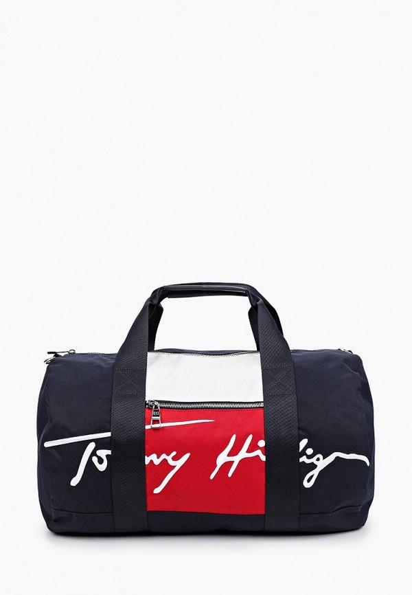 мужская спортивные сумка tommy hilfiger, синяя