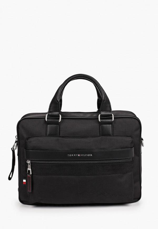 мужская сумка с ручками tommy hilfiger, черная