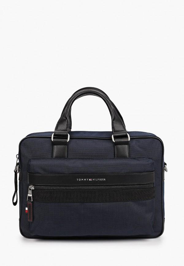 мужская сумка с ручками tommy hilfiger, синяя