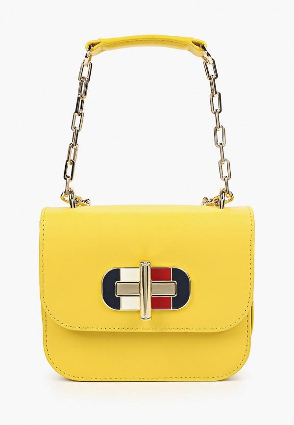 женская сумка через плечо tommy hilfiger, желтая