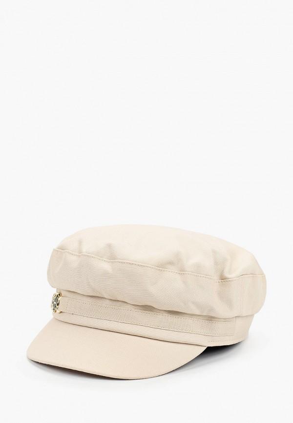 женская кепка tommy hilfiger, бежевая