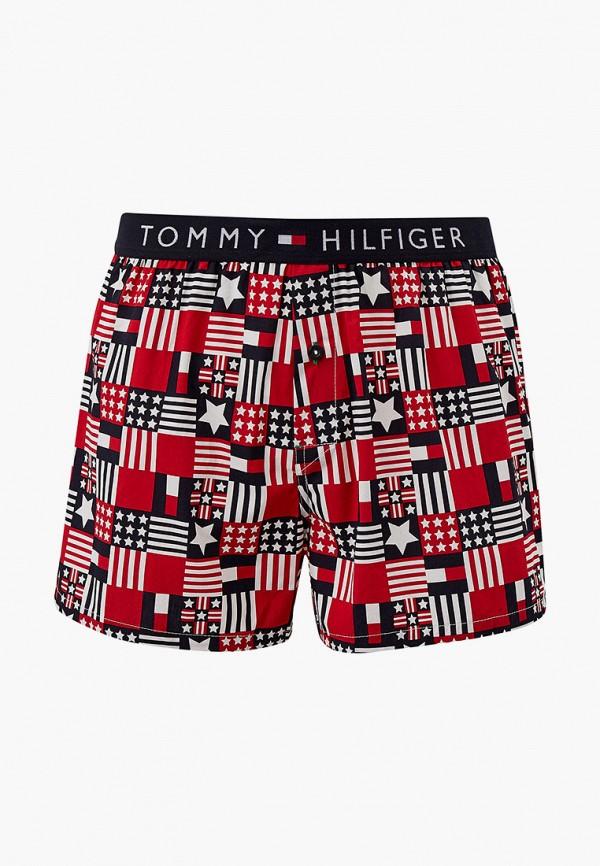 мужские трусы-шорты tommy hilfiger, красные