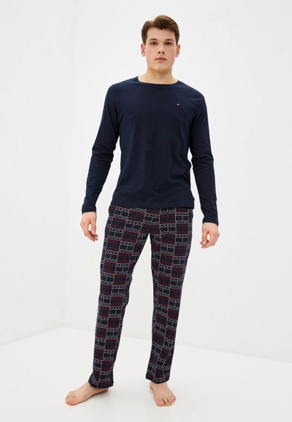 мужская пижама tommy hilfiger, синяя