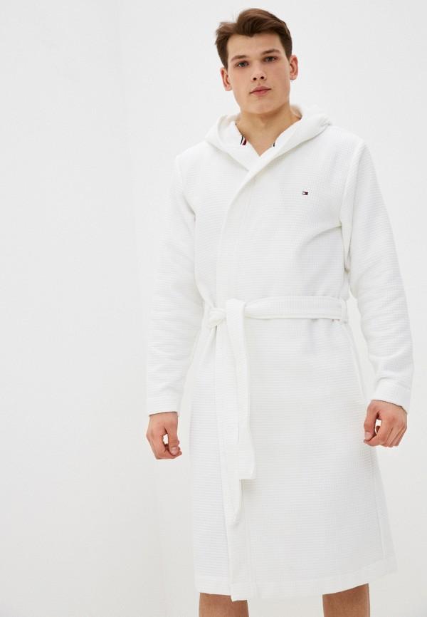 мужской халат tommy hilfiger, белый