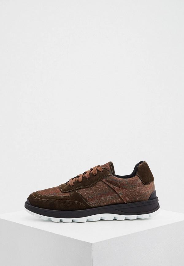 мужские кроссовки etro, коричневые