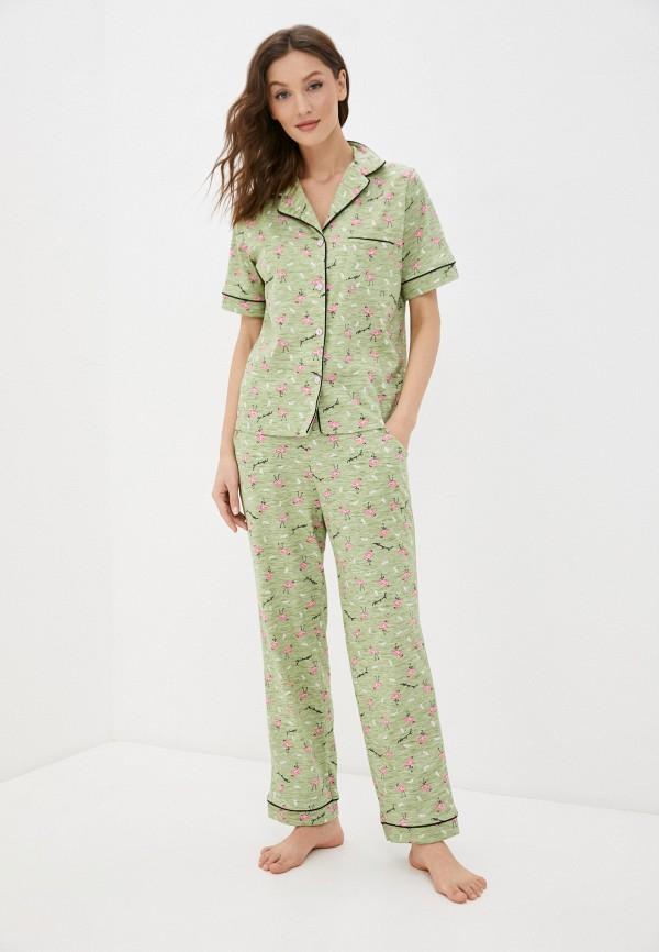 женская пижама rene santi, зеленая