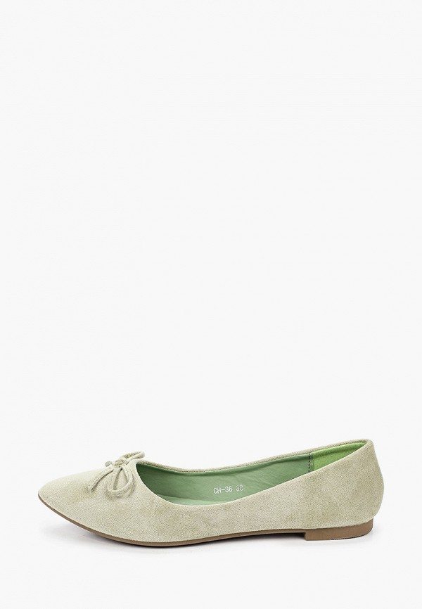 женские балетки malien, зеленые