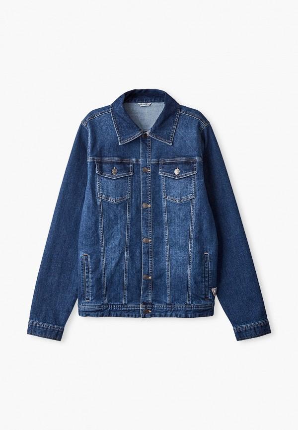 джинсовые куртка guess для мальчика, синяя