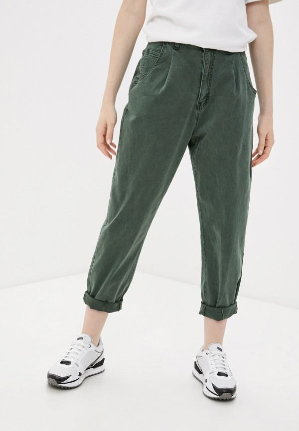 женские повседневные брюки g&g, зеленые