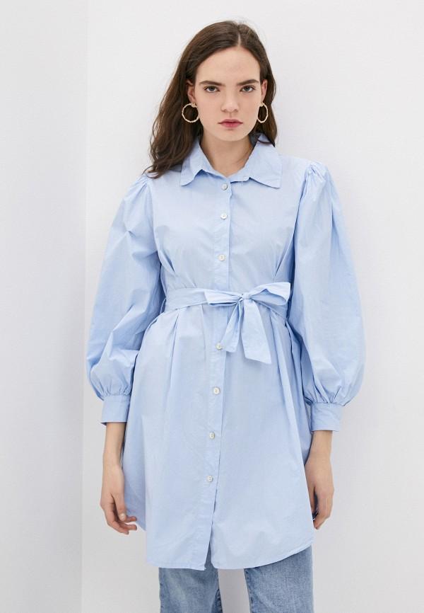 женская блузка y.two, голубая