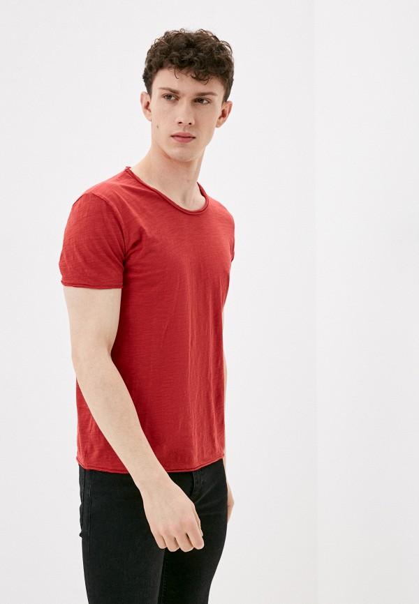 мужская футболка с коротким рукавом y.two, красная