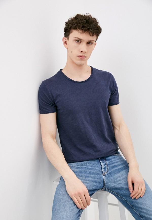 мужская футболка с коротким рукавом y.two, синяя