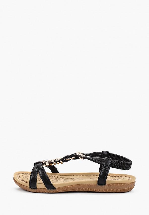 женские сандалии exquily, черные