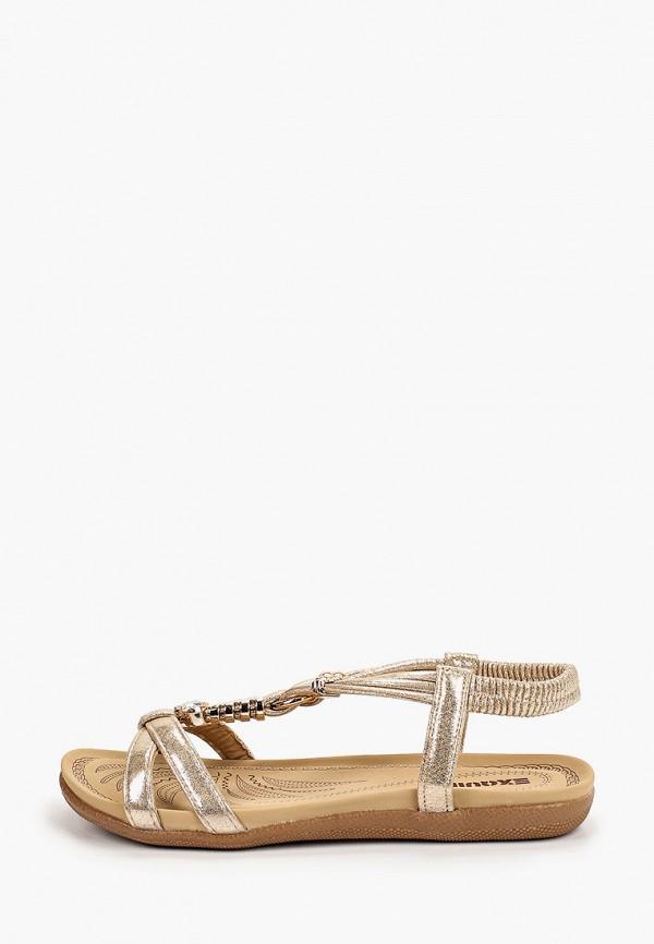 женские сандалии exquily, золотые