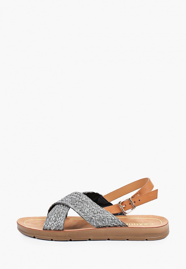 женские сандалии exquily, серые