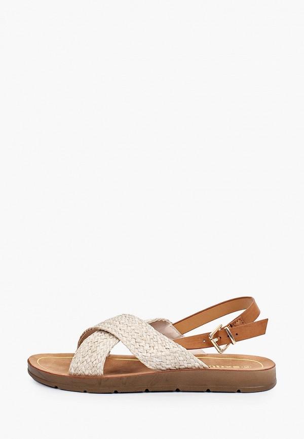 женские сандалии exquily, бежевые