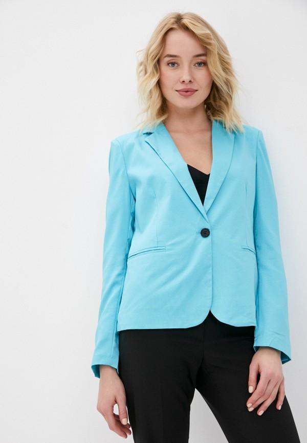 женский пиджак macleria, голубой