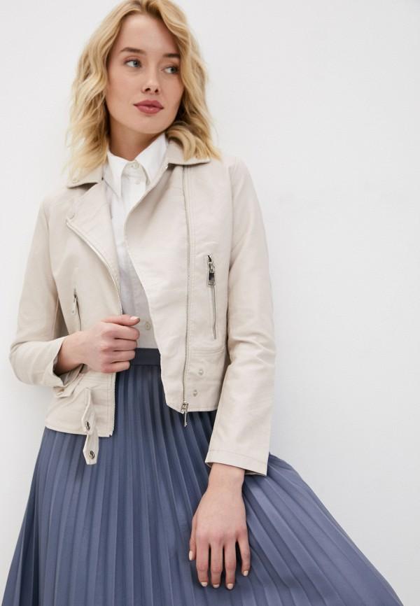 женская куртка косухи adrixx, бежевая