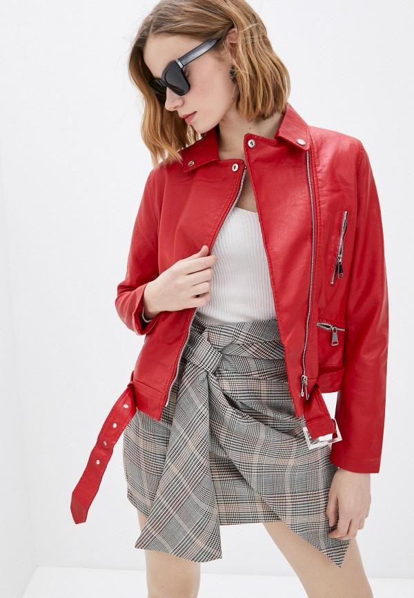 женская куртка косухи macleria, красная
