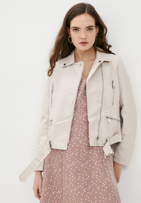 женская куртка косухи macleria, бежевая