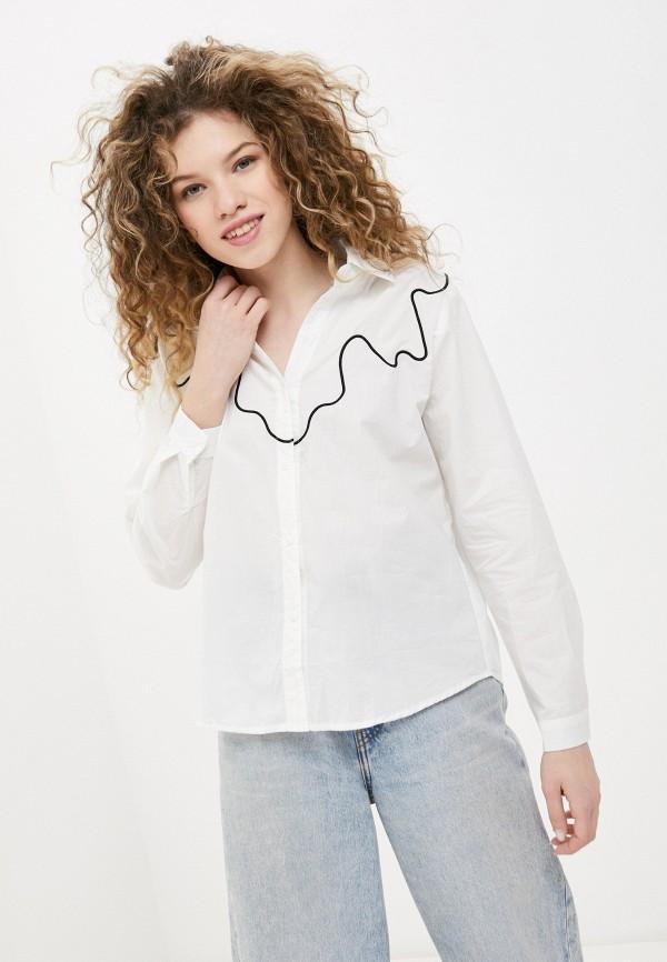 женская рубашка с длинным рукавом b.style, белая