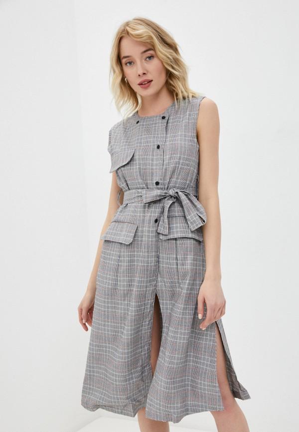 женское платье b.style, серое