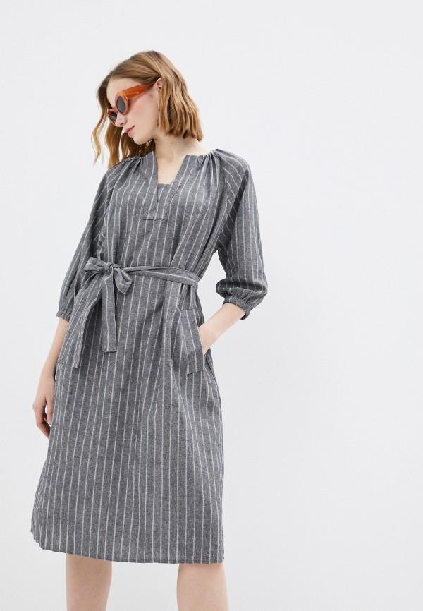 женское повседневные платье b.style, серое