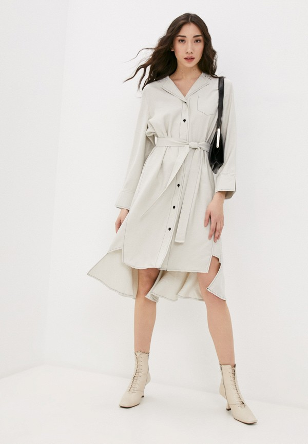 женское платье b.style, бежевое