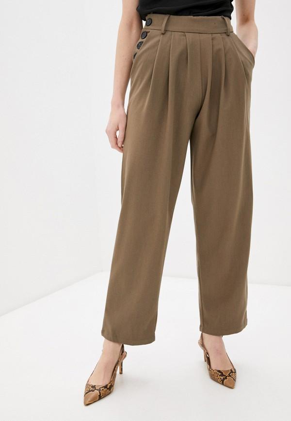женские повседневные брюки b.style, коричневые