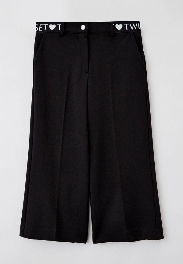 брюки twinset milano для девочки, черные