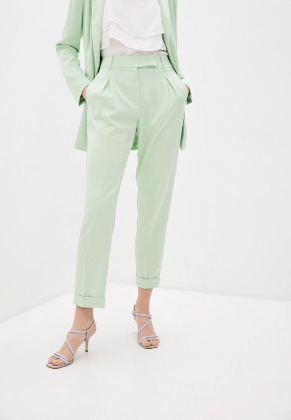женские повседневные брюки twinset milano, зеленые