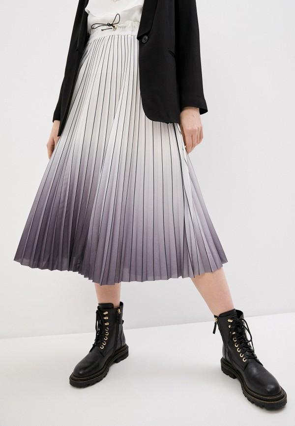 женская плиссированные юбка twinset milano, серая
